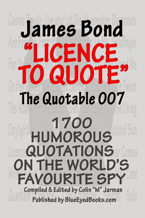 Quotable James Bond quotes book